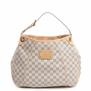 Louis Vuitton Galliera Pm White Damier Azur Canvas